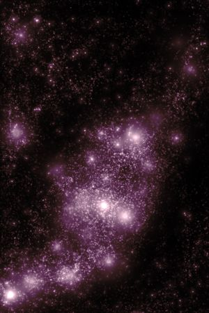 Image of stars and nebula clouds in deep space - abstract background of starfield universe Stock Photo - 5367552