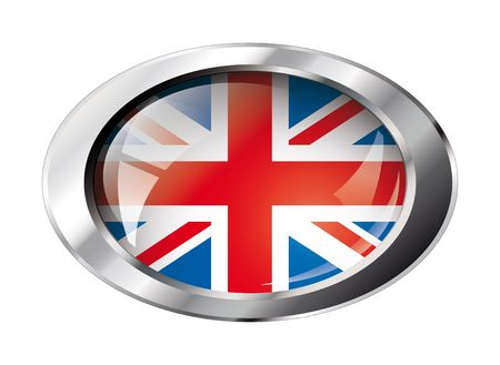 great britain shiny button flag vector illustration. Isolated abstract object against white background. Stock Vector - 6905387