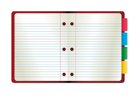 illustration abstract paper notebook. Template for web site or blog. Stock Illustration - 6943609