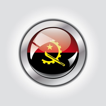 angola: Angola shiny button flag