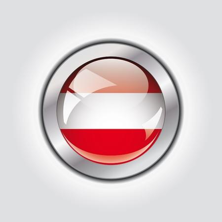 Austria shiny button flag  photo