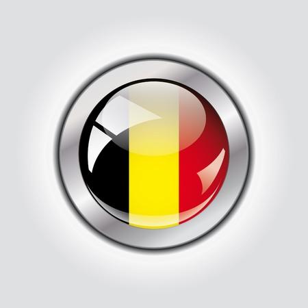 Belgium shiny button flag  photo
