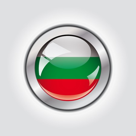 Bulgaria shiny button flag  photo