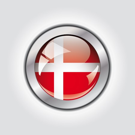Denmark shiny button flag  photo