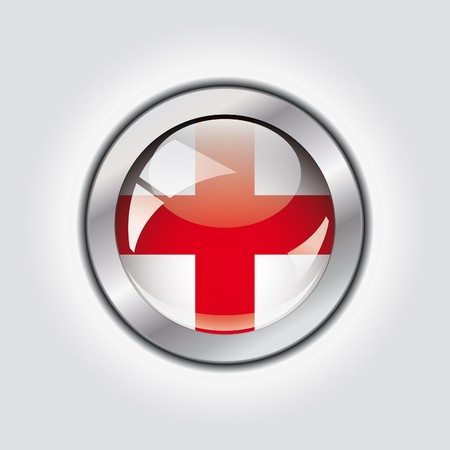 England shiny button flag  photo