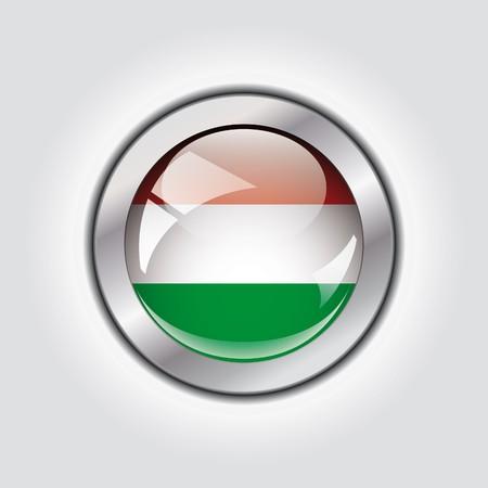 Hungary shiny button flag  photo