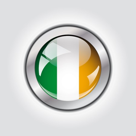 Ireland shiny button flag  Stock Photo - 7958517