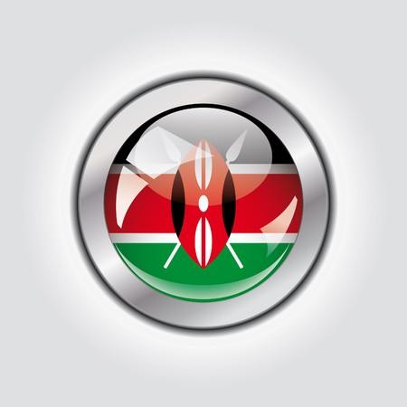 Kenya shiny button flag  photo