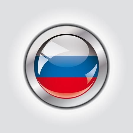 Russia shiny button flag  photo