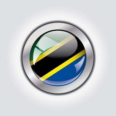 Tanzania shiny button flag  photo