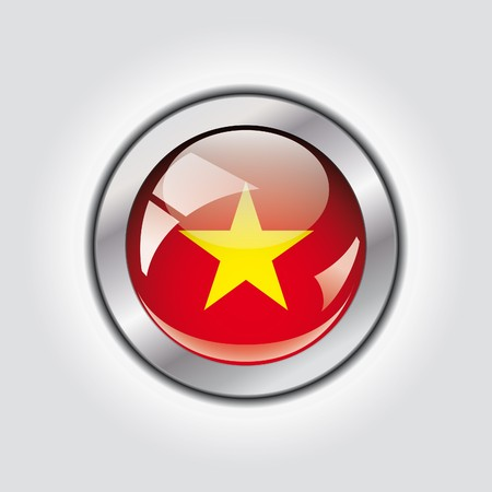 Vietnam shiny button flag  photo