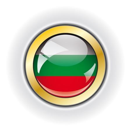 Bulgaria shiny button flag  photo