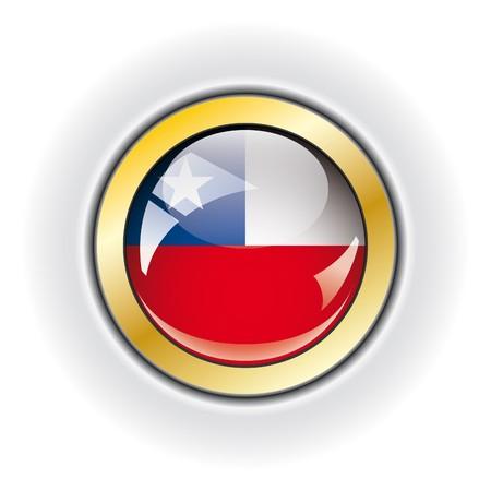 Chile shiny button flag  photo