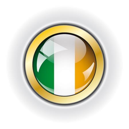 Ireland shiny button flag Stock Photo - 7958691