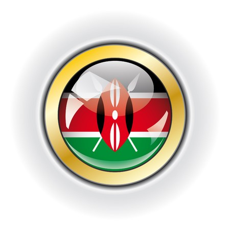 Kenya shiny button flag Stock Photo - 7958829