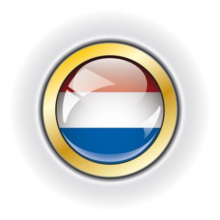 Netherlands shiny button flag  photo