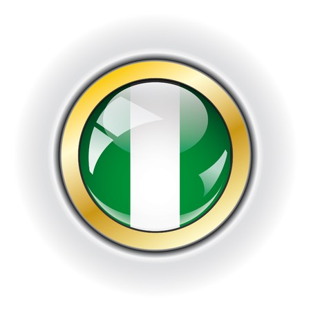 Nigeria shiny button flag  photo
