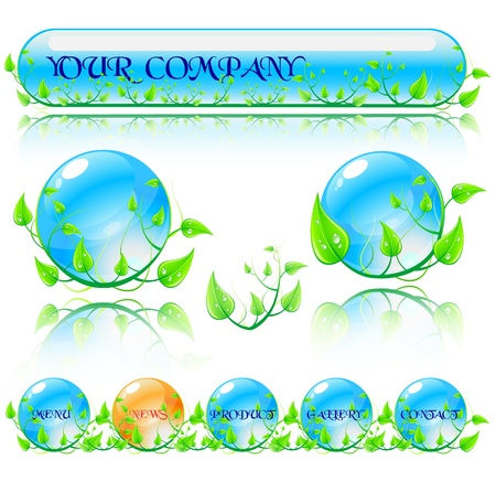 Abstract vector environmental theme elements. Website banners isolated on white background. Stock Photo - 10498945