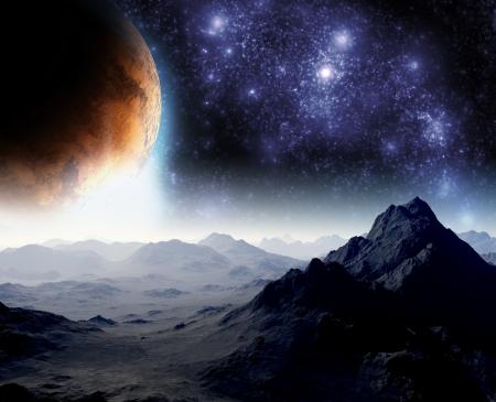 astronomie: Abstrakter Hintergrund des Weltraums. In der fernen Zukunft Reisen. Neue Technologien und Ressourcen.