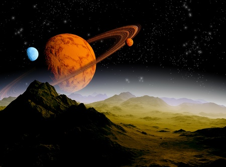 Abstract background of deep space  In the far future travel  New technologies and resources Stock Photo - 12781070