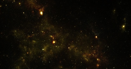 Abstract design nebula in space. The picture stars on a black background. Stock Photo - 12781113