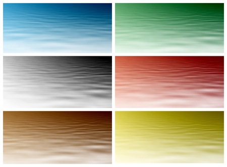 water level: Red, blue, green, black, yellow and brown water level. Beautiful water background for your project. Stock Photo