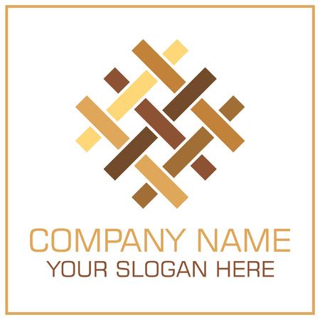 Flat Style Vector Logo Parquet  Laminate for Flooring Company