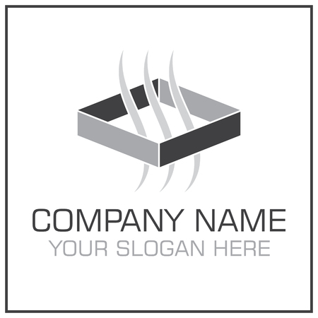 HVAC Ventilation / Air Transfer System icon for Conditioning Company Stock Illustratie