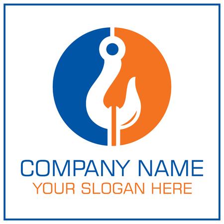 Logo vectoriel de crochet de remorquage pour la société de services de remorquage Logo