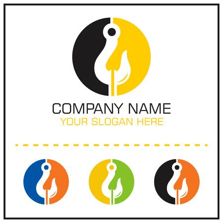 Logo vettoriale gancio di traino per società di servizi di traino