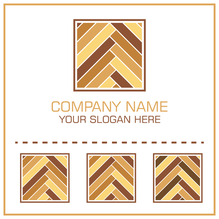 Flat Style Vector Logo Laminate / Parquet for Flooring Company 向量圖像