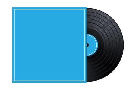 Vector Vinyl in the Box  Cover Mockup  Template Illustration Stock Illustratie