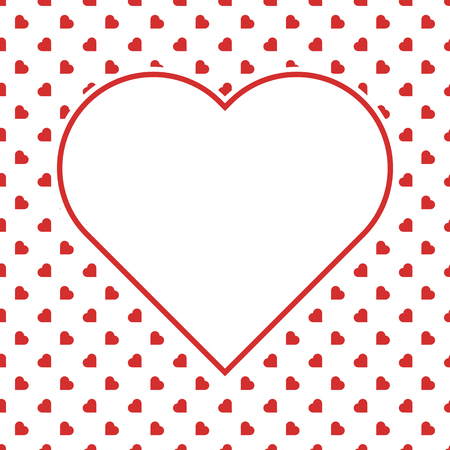 Red Hearts Seamless Love Background Pattern for Valentine's or Mother's Woman day for banner romantic cards wrapping paper decoration . Birthday , wedding and marriage designs.