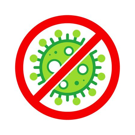 Corona Virus, nCOV, MERS-CoV Middle East Respiratory Syndrome Coronavirus Stop, Block, Anti Stamp. Vector 2019-2020. Warning Sign, Protection Symbol, Risk Zone.  イラスト・ベクター素材