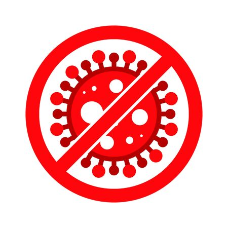 Corona Virus, Covid-19, nCOV, MERS-CoV Novel Coronavirus Stop, Block, Anti Stamp. Red Vector 2019-2020. Warning Sign, Protection Symbol, Risk Zone Sticker. Pneumonia Disease. Covid19  イラスト・ベクター素材
