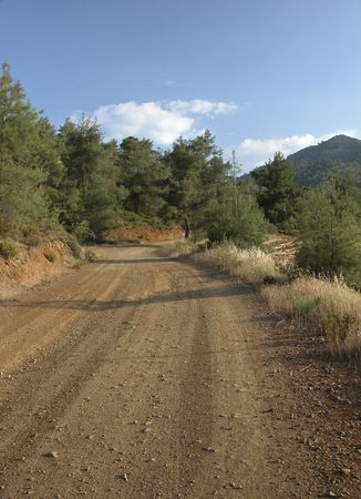 Road from Troodos mountains in Cyprus Stock Photo - 2262600