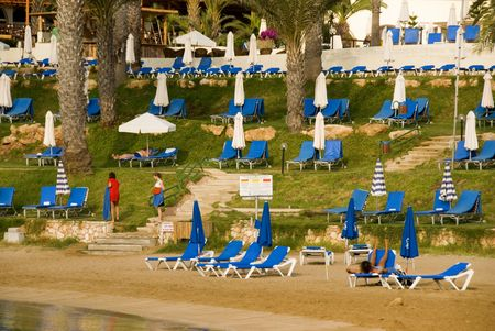 Holiday resort at Protoras area in Cyprus photo