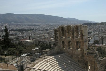 platon: Herodion from Acropolis hill.