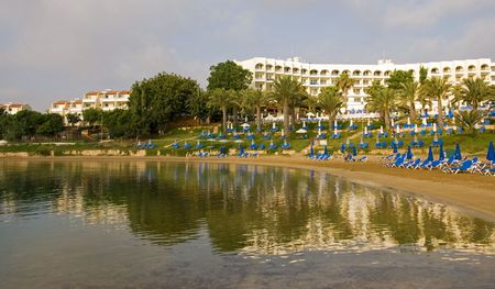 Holiday resort at Protaras area in Cyprus photo