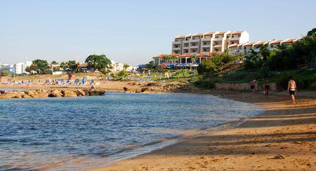 Beach resort at Protaras  area in Cyprus                          photo
