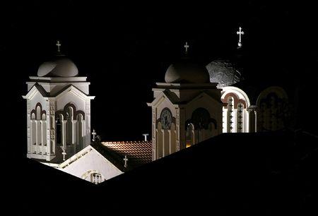 nightview:           NightView of Church towers .