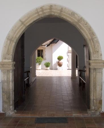 ecclesiastical: Christian church entrance