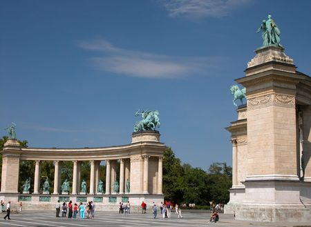 Heroes Square in Budapest Hungary.