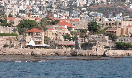 Stadtbild von Beirut von einem Boot aus. Standard-Bild - 2501300