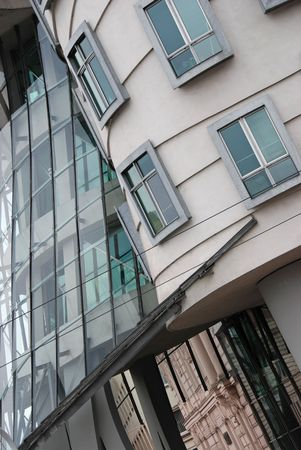 Modern architecture building from the Dancing building in Prague Stock Photo - 2530429