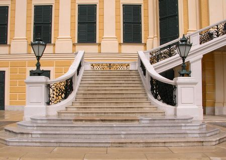 entranceway: Stairway from Schonbrunn Palace.