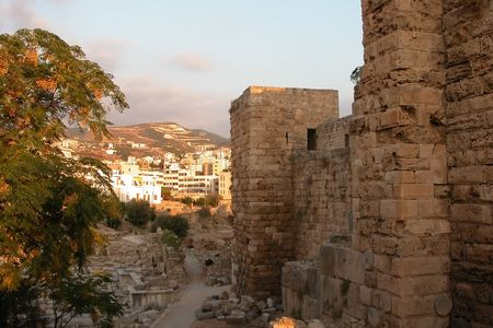 View of Byblos archaeological place in Beirut Lebanon