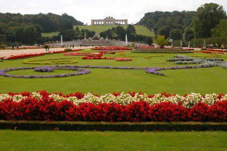 schonbrunn palace: Schonbrunn palace gardens in Vienna, Austria.
