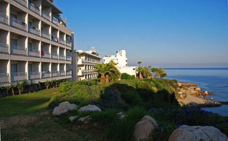 Beach hotel at Paphos area in Cyprus. photo