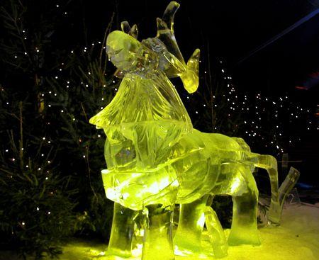 Ice sculptures  Stock Photo